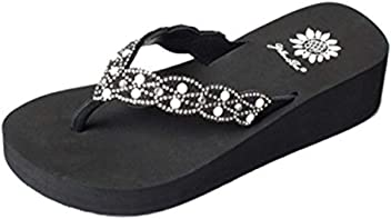 Yellow Box Frozen Black Flip Flop