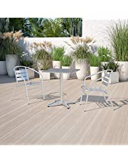 Flash Furniture Square Aluminum Indoor-Outdoor Table with Base