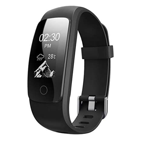 Samgu Pulsera de Actividad Reloj Inteligente con Pulsómetro y Presión Arterial Relojes Deportivos GPS Impermeable IP67