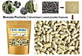100 Capsules of 100% natural Mucuna Pruriens seeds powder Capsules 400mg. ( Velvet bean seed in Capsules ) Herbal Herb benefits Sex brain L-DOPA For Sale