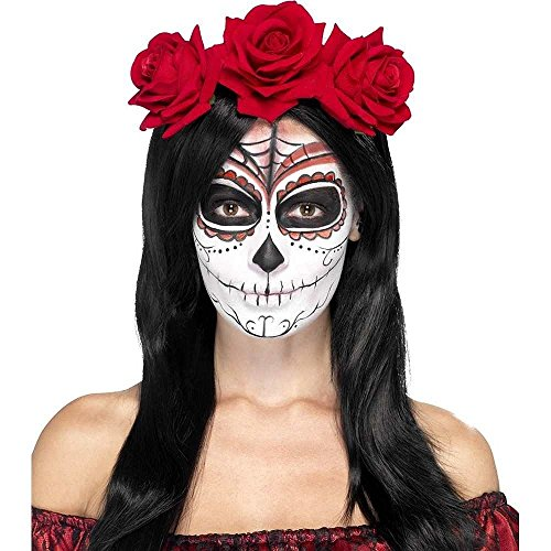 [Smiffy's Women's Day Of The Dead Headband, Multi, One Size] (Womens Day Of The Dead Costume)