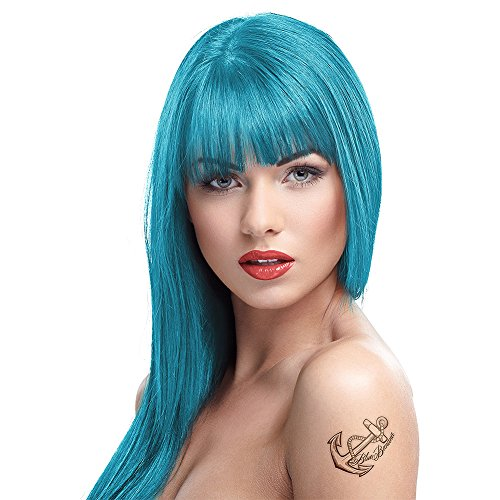 2 Crazy Color Semi Permanent Hair Colour Dye Cream by Renbow 100ml Blue Jade 67
