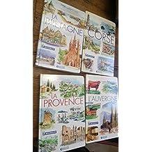 mes livres voyages Michelin L'Auvergne la Corse la Provence la Bretagne - lot 4 livres - éditions Atlas frottements sur les couvertures, bon état par ailleurs - Envoi rapide, soigné