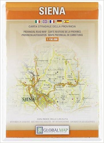 Siena Tuscany Italy Provincial Road Map English Spanish