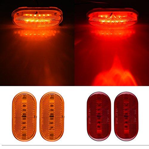 Catinbow 4 Pcs LED Side Marker Light 4