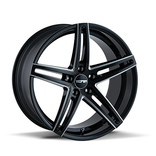 Touren TR73 Gloss Black/Milled Spokes Wheel Finish (18 x 8. inches /5 x 114 mm, 35 mm Offset)