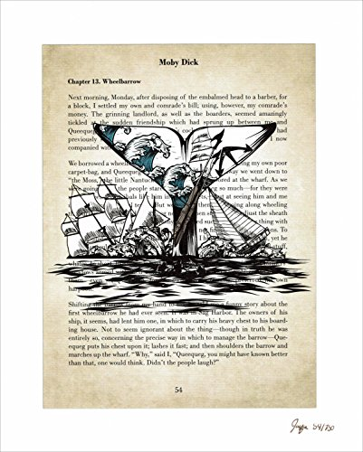 Moby Dick Foreshadowing Limited Edition Giclee Art Print - 8 by 10 (Limited Edition Giclee Art)