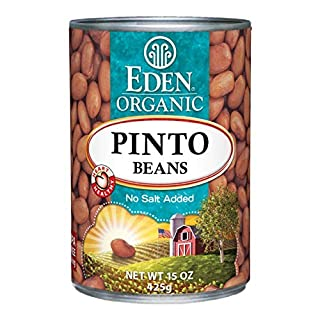 Eden Organic Pinto Beans, No Salt Added, 15-Ounce Cans (Pack of 12) - SET OF 3