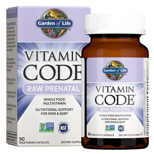 Garden of Life Vitamin Code Raw Whole Food Prenatal Multivitamin with Iron, Folate not Folic Acid, Best Vegetarian…