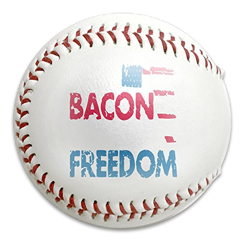 Beer Bacon Guns And Freedom Size 9 Safety Soft Baseballs Bullet Ball Training Ball White by Uten