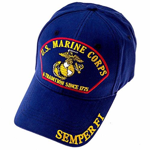 - Exclusive Caps USMC Marine Corps Baseball Cap - Blue (Blue)