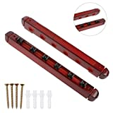 Johlycao Billiard Wall Mounted Bar Rack, 6 Pool Cue Sticks-Billiard Pool Hardwood Hanging 6 Cues Stick Natural Wood Rack Holder