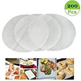 (Set of 200) Non-Stick Round Parchment Paper 8 Inch Diameter, Baking Paper Liners Round for Cake Pans Circle