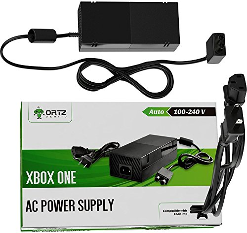 Ortz Xbox One Power Supply [ENHANCED QUIET VERSION] AC Adapter Cord Best for Charging - Brick Style - Great Charger Accessory Kit with Cable (Power supply)
