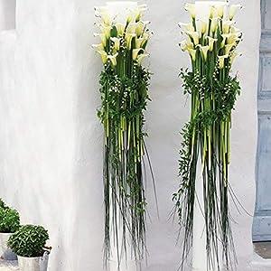 GTIDEA 20Pcs Fake PU Calla Lily Artificial Flowers Bride Wedding Bouquet for Table Centerpieces Arrangements Home DIY Garden Office Decor (White) 5