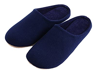 mens bedroom shoes. Blubi Men s Breathable Terry Cloth Solid Color Warm Slippers Mens House  Shoes 6 5 M Amazon com