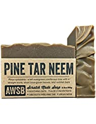 Pine Tar Neem Oil All Natural, Vegan, Organic Bar Soap for Skin Problems, Handmade by A Wild Soap Bar