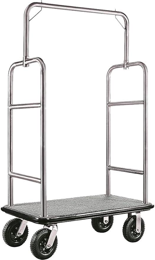 gastlando - Carrito para equipaje Plateado acero inoxidable 1100 x 620 x 1750 mm