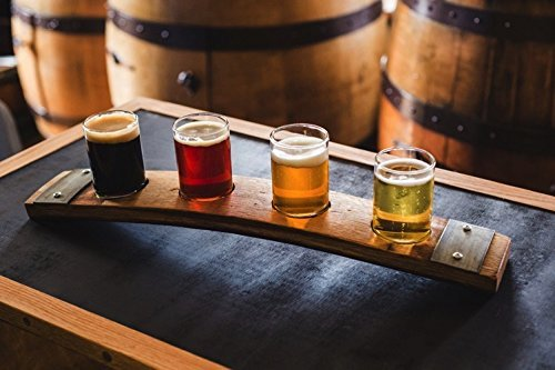 (Barrel Stave Beer Flight)