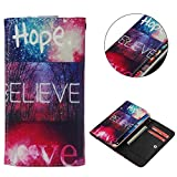 "Universal Cell Phone Flip Case, JULAM PU Leather Skin Protective Folio Case Cover Wallet Bag Card Slots Compatible LG G Stylo G4 Stylus 4G LS770 H631 F560K 5.7"" More (Hope)"