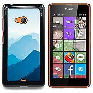 """Qstar Arte & diseño plástico duro Fundas Cover Cubre Hard Case Cover para Nokia Lumia 540 (Blue Mountains"""")"""