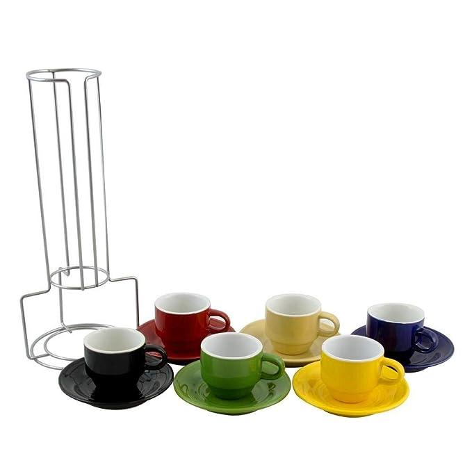 Amazon.com: Cerámica tazas de espresso Set ...