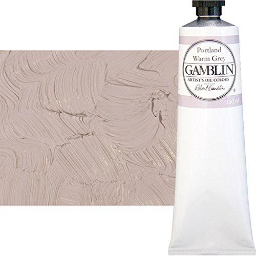 Gamblin Artist Oil, 150ml Tube, Portland Warm Grey (2555)