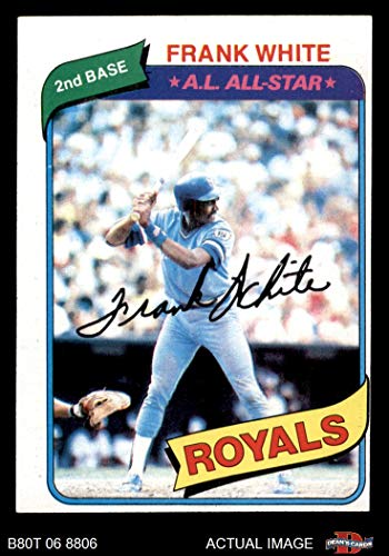 - 1980 Topps # 45 Frank White Kansas City Royals (Baseball Card) Dean's Cards 4 - VG/EX Royals