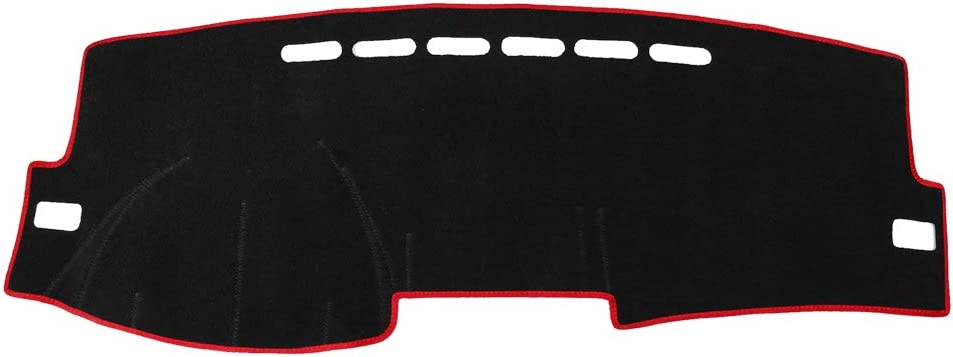 X AUTOHAUX Car Dashboard Cover Nonslip Black Red Dash Mat Pad for 2007-2013 Toyota Corolla