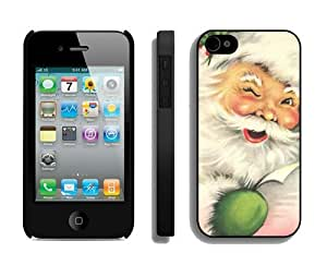 Customized Design Santa Claus iPhone 4 4S Case 10 Black