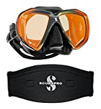 Scubapro Spectra Mask Black Bronze Mirrored Lens w/Neoprene Strap Cover