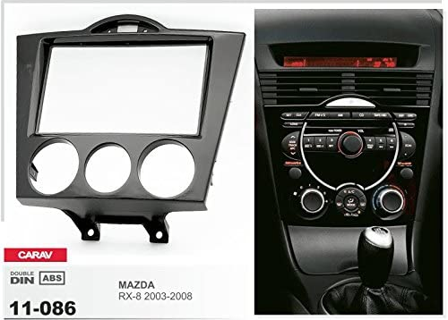 ISO and Antenna Adaptor Cable Manual Air Conditioning CARAV 11-086-15-6 Car Radio Faceplate 2-DIN in Dash Installation Kit Set for Mazda RX-8 2003-2008
