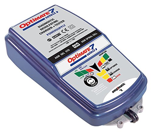 OptiMATE 7 Select, TM-251, 9-step 10Amp battery charger for 12V starter and deep cycle batteries by Tecmate