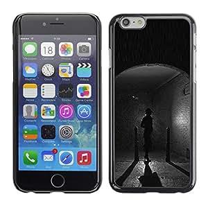 For Apple iPhone 6 Plus(5.5 inches)Case , City Old Town Cobblestone Rain - Diseño Patrón Teléfono Caso Cubierta Case Bumper Duro Protección Case Cover Funda