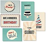 Birthday Card - 48-Pack Birthday Cards Box Set, Happy Birthday Cards - Retro Birthday Designs Birthday Card Bulk, Envelopes Included, 4 x 6 Inches