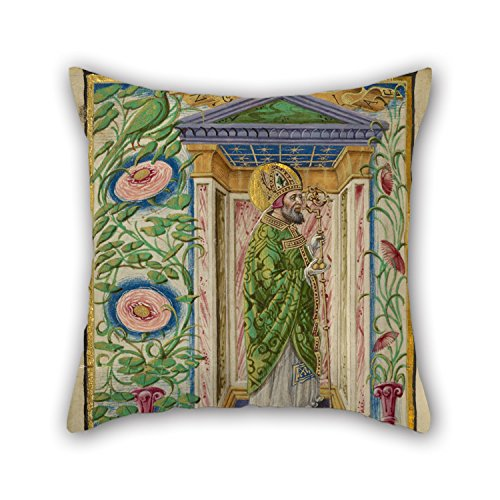 [Elegancebeauty Oil Painting Taddeo Crivelli (Italian, Died About 1479, Active About 1451 - 1479) - Saint Nicholas Pillowcase ,best For Living Room,gf,play Room,bf,family,dance Room 20 X 20 Inches] (Punk Costume Nz)