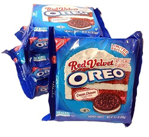 Oreo Red Velvet Cookies with Cream Cheese Seasonal Limited Edition 10.7 Oz (4 Pack)