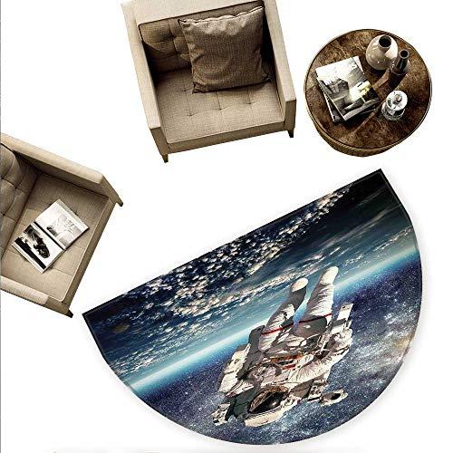 warmfamily Divertida Alfombra semicircular para Puerta de Coche con diseño de Caracol en Las Ruedas, 55 x 82,6 cm (Altura x...
