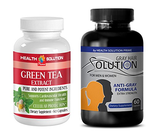 fat burner pills - GREEN TEA - GRAY HAIR - COMBO - nettle root extract - (2 Bottles Combo)