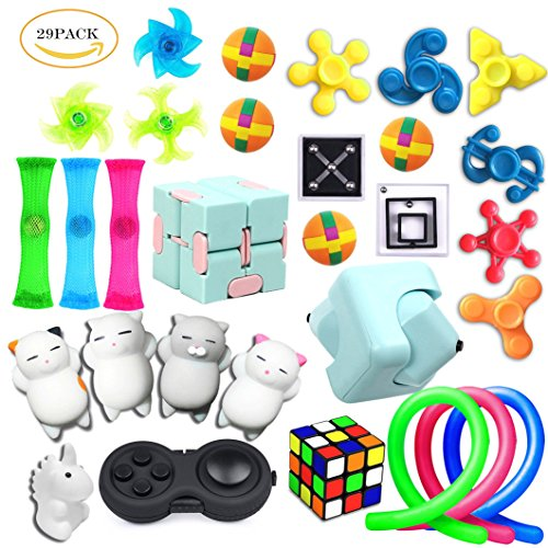 29 Pack Sensory Toys Set, Relieves Stress and Anxiety Fidget Toy for Children Adults, Special Toys Assortment for Birthday Party Favors, Classroom Rewards Prizes, Carnival, Piñata Goodie Bag Fillers by PP PHIMOTA