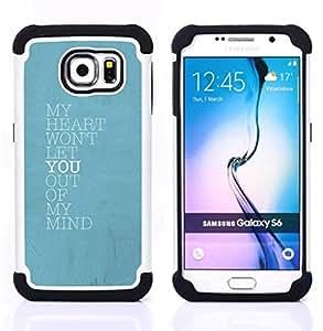 - blue heart mind love you baby poster - - Doble capa caja de la armadura Defender FOR Samsung Galaxy S6 G9200 RetroCandy