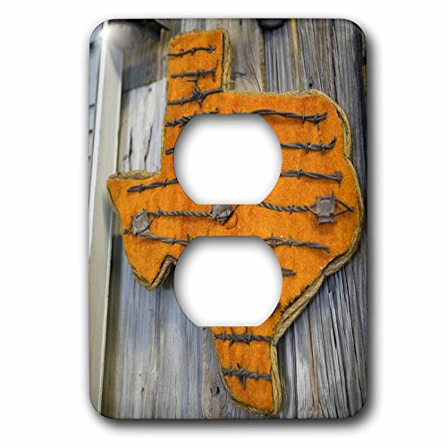 Danita Delimont - Texas - TEXAS, Pecos Museum Display of Barbed Wire - US44 WBI0103 - Walter Bibikow - Light Switch Covers - 2 plug outlet cover (lsp_94601_6)