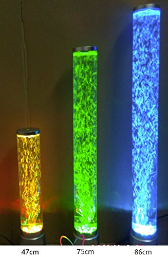 BFlowerYan 47cm 220V LED Auto Color Changing Mood Bubble Tower Lamp Fish Water Tube Home Office