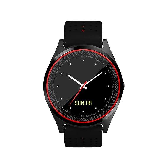 V9 Bluetooth Reloj Inteligente Cámara Tarjeta SIM Smartwatch Podómetro Salud Deportes Reloj Hombres Mujeres Smartwatch para