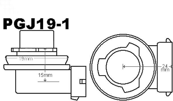 2 X H8 Birnen Halogen Pgj19 1 Auto Lampe 6000k 35w Xenon Glühbirnen 12v Auto