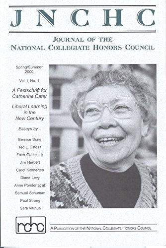 Journal of the National Collegiate Honors Council 1.1: Liberal Learning in the New Century