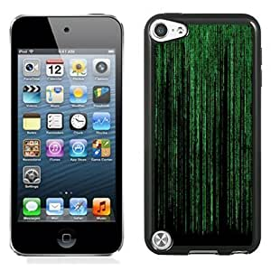NEW Unique Custom Designed iPod Touch 5 Phone Case With The Matrix Green Vertical Flowing Text_Black Phone Case Kimberly Kurzendoerfer
