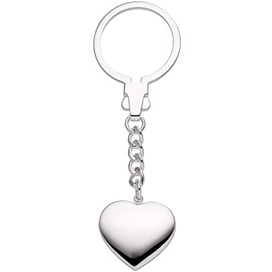 Colgante Llavero plata colgante corazón corazones de plata ...