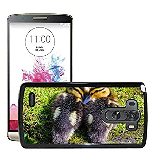 Super Stella Slim PC Hard Case Cover Skin Armor Shell Protection // M00106963 Duckling Animals Small Baby Grass // LG G3 VS985