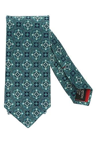 Olymp Seidenkrawatte 7 cm breit Muster smaragd